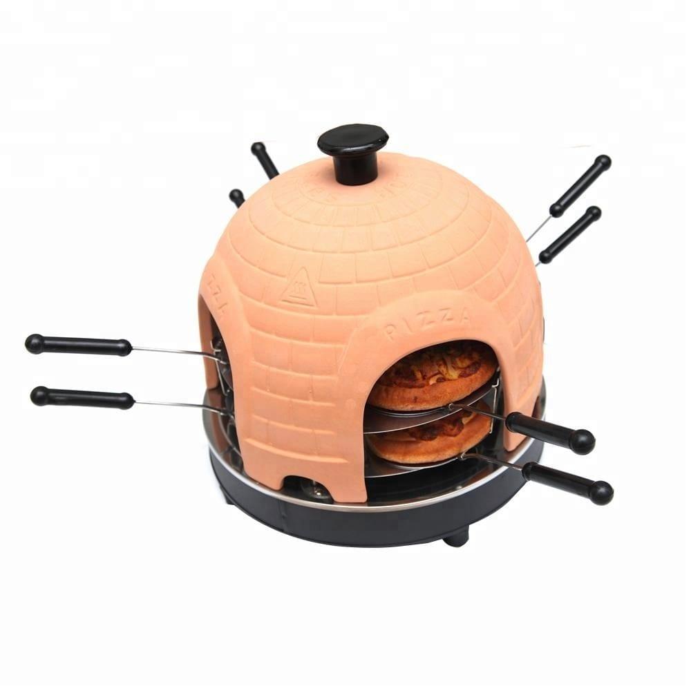Professional 8 person home electric round pizza dome oven mini