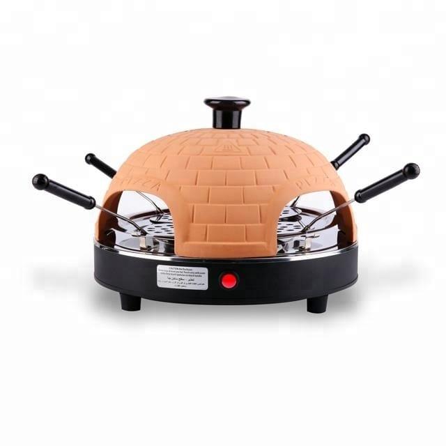 800W automatic electric 4 person mini pizza oven clay