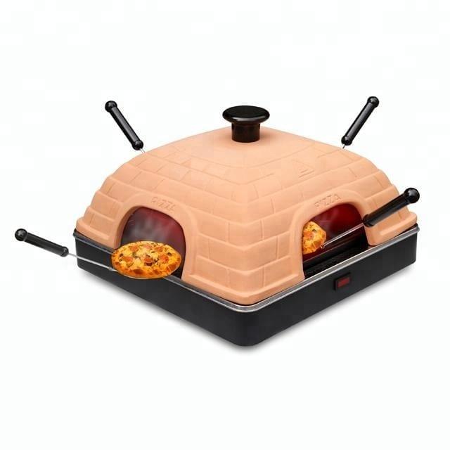 Square terracotta mini pizza oven 4 person pizza oven electric