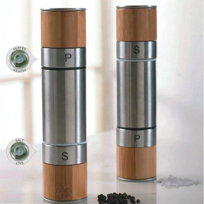 pepper and salt grinder set 9610 2 in 1 Manual Salt & Pepper Mill