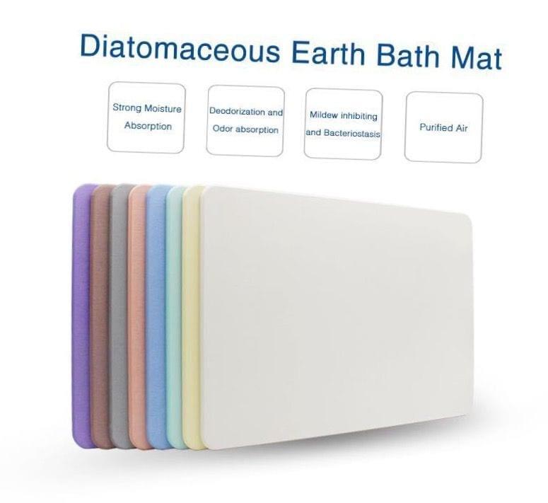Non Slip Japan Instant Water Absorbent Printed Diatomite Earth Bath Foot Mat Custom Design Logo CMYK6 Printing